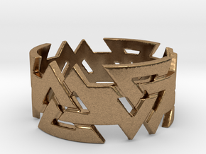Valknut ring. Ring Size 11 in Natural Brass