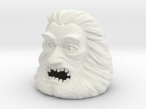Zardoz Head in White Natural Versatile Plastic