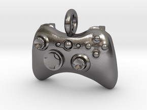 XBox 360 Controller Pendant in Polished Nickel Steel