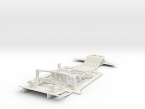 Mini-z Subchassis V6 - Audi R8 in White Natural Versatile Plastic