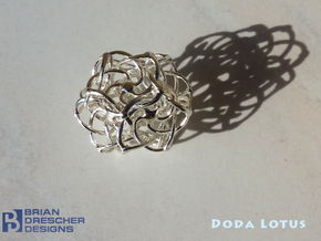 Doda Lotus - 25mm (1 inch) in Raw Silver