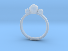 GeoJewel Ring UK Size R US Size 8 5/8 in Smooth Fine Detail Plastic