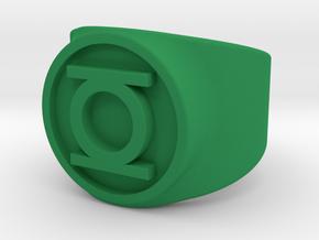 Orig Hal GL Ring Sz 5 in Green Processed Versatile Plastic
