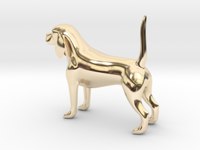 Beagle in 14K Yellow Gold