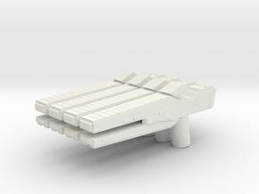 Custom rail gun x4 for Lego minifigs in White Natural Versatile Plastic