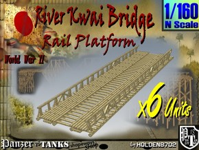1-160 X6 Units Bridge River Kwai Platforms in White Natural Versatile Plastic