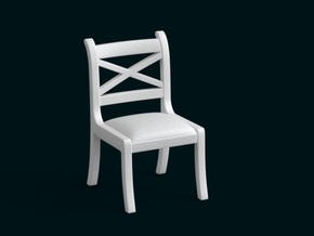1:39 Scale Model - Chair 02 in White Natural Versatile Plastic