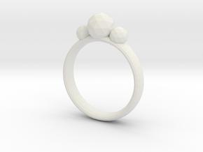 GeoJewel Ring UK Size Q US Size 8 in White Natural Versatile Plastic
