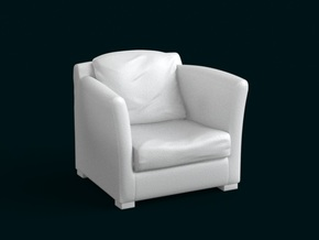 1:39 Scale Model - ArmChair 04 in White Natural Versatile Plastic