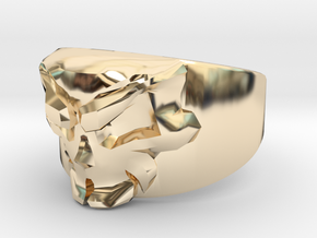 Skull Ring Size 7 in 14K Yellow Gold