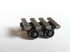 4 Bar Narrow Gauge Slab Wagon (x3) in Smooth Fine Detail Plastic