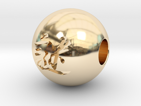 16mm Nazo(Mystery) Sphere in 14K Yellow Gold