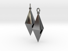 Pair of cute cheap earrings in Polished Silver