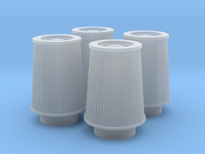 1/24 K&N Cone Style Air Filters TDR 4630 in Smooth Fine Detail Plastic