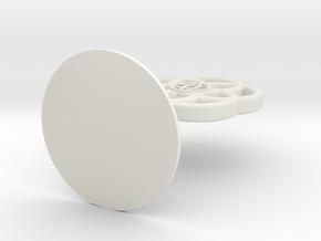 Epcot Topper in White Natural Versatile Plastic