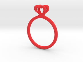 Infinity Love Ring Size US 6 (16.5mm) in Red Processed Versatile Plastic