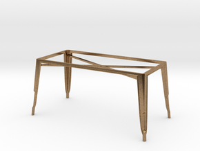 1:24 Pauchard Dining Table Frame, Large in Natural Brass