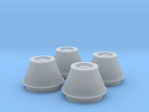 1/25 K&N Cone Style Air Filters TDR 4600 in Smooth Fine Detail Plastic