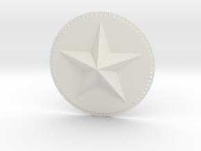 Captain America Upper Arm Star V2 in White Natural Versatile Plastic
