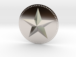 Captain America Upper Arm Star V2 in Platinum