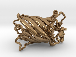 Green Fluorescent Protein (small) in Natural Brass