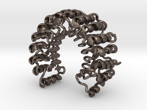 Ribonuclease Inhibitor (small) in Polished Bronzed Silver Steel