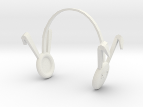 Dollfie Bunny Earmuffs in White Strong & Flexible