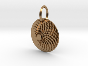 Sacret Flower of geometry in Natural Brass