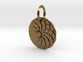 Sacret Flower geometry in Natural Bronze