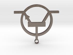 Transistor Necklace or keyring in Polished Bronzed Silver Steel