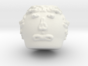 Head in White Natural Versatile Plastic
