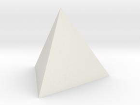 Tetrahedron 4er 40mm  in White Natural Versatile Plastic