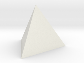 Tetrahedron 4er 20mm in White Natural Versatile Plastic