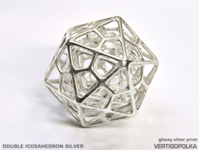 Double Icosahedron Silver in Polished Silver