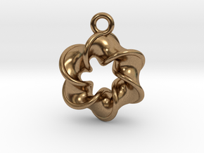 Six-pointed Star Pendant【size-S】 in Natural Brass