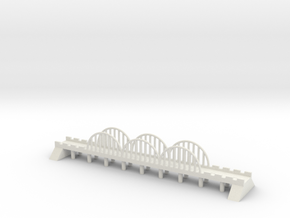 1/600 Steel Road Bridge in White Natural Versatile Plastic