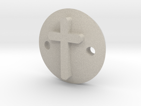 Cross bracelet in Natural Sandstone