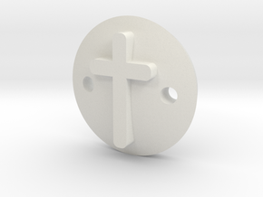 Cross bracelet in White Natural Versatile Plastic