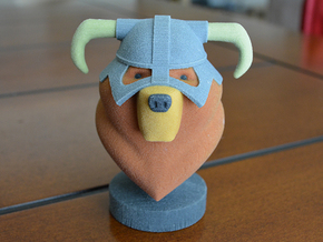 Dovahbear Bust (Full Color Sandstone) in Full Color Sandstone