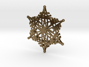 Arcs Snowflake - 3D in Natural Bronze