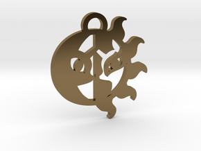 Medallion of Celestia and Luna in Polished Bronze