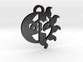 Medallion of Celestia and Luna in Matte Black Steel