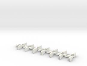 Chaisen Autoscooter für 1:160 (n scale) in White Natural Versatile Plastic