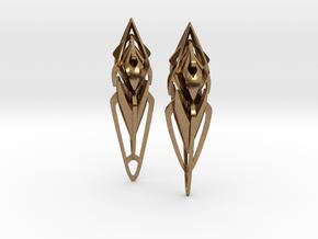 Mandana Earings in Natural Brass