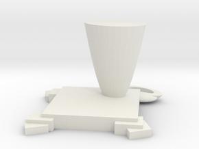 Love Mug in White Natural Versatile Plastic