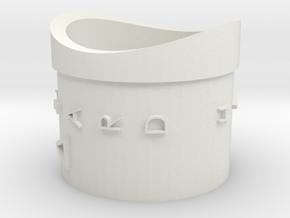 Hazard switch in White Natural Versatile Plastic
