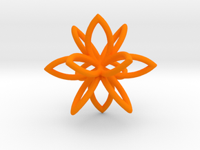 3D Flower in Orange Processed Versatile Plastic