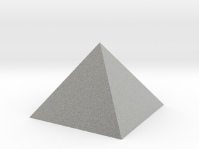 Pyramid 74mm Hollow Closed Hole - Square Johnson  in Metallic Plastic