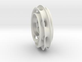 sjoo-Torus2 in White Natural Versatile Plastic