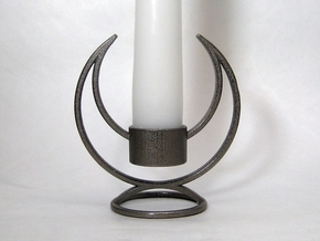 Candle Holder - 3D printed Candleholder in Polished Nickel Steel